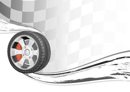 racing wheel:   background of automobile race