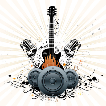 background of concert poster Vector