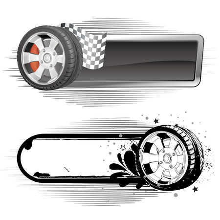 racing wheel: disign  element of automobile race