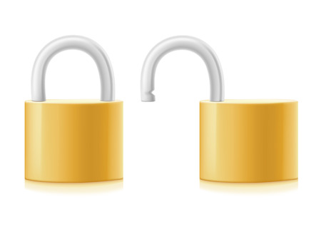 lock on white background Vector