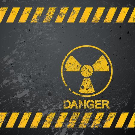 radioattivo: sfondo di avvertimento di pericolo nucleare Vettoriali
