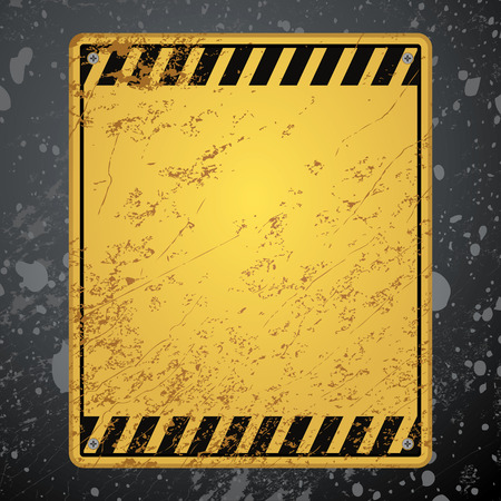 dangerous construction: textured old striped warning background
