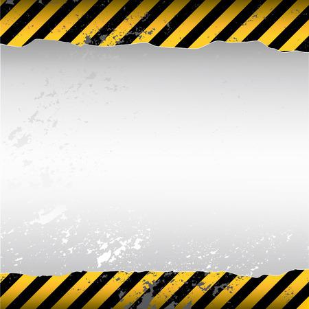 industrial danger: papel tapiz roto con temas de advertencia Vectores
