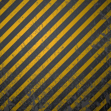 hazardous metals: textured old striped warning background