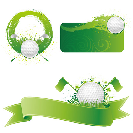 golf equipment: golf sport design element Illustration