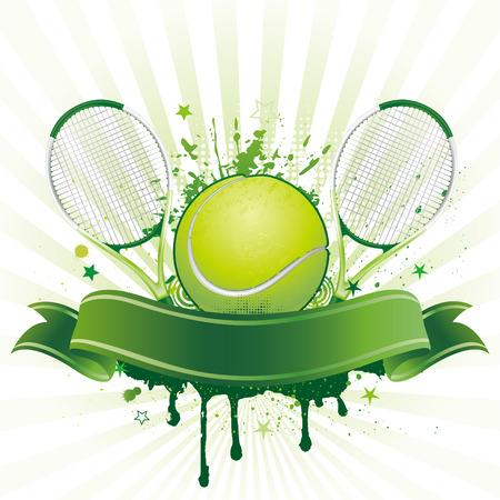 tennis: �l�ment de design pour le sport tennis Illustration