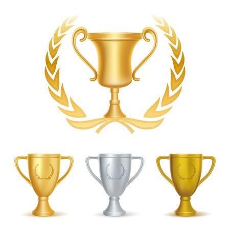 trophy award: bronce y plata de trofeos-oro