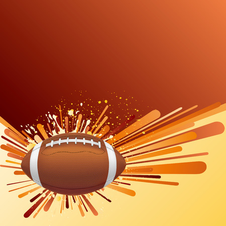 voetbal silhouet: vector achtergrond van american football