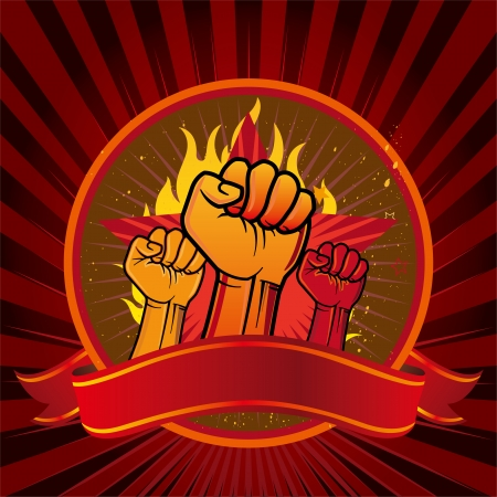 revolution: vector illustration of clenched fist