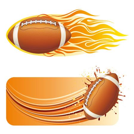 vector illustration of american football