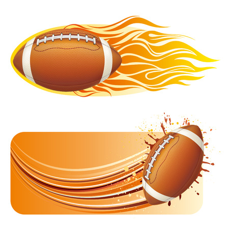 vector illustration of american football