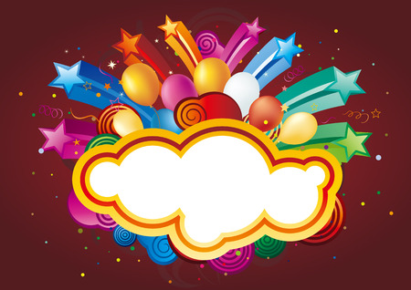 colorful balloon and star,vector celebration background Illustration