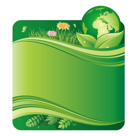 conservations: vector illustration of green environment
