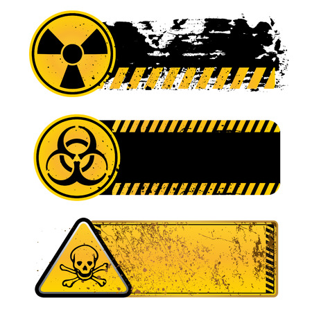 hazardous substances: danger warning-nuclear,biohazard,toxic substance