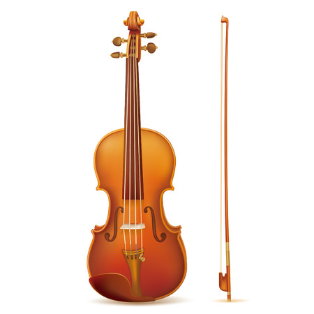vector violin isolated on white background Vector