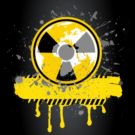 poison sign: nuclear danger warning background Illustration