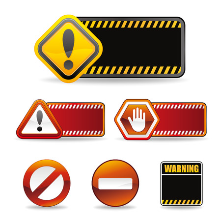 set of warning sign Stock Vector - 9126519