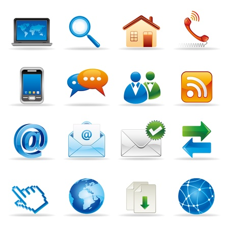 new media and social network icons Vector