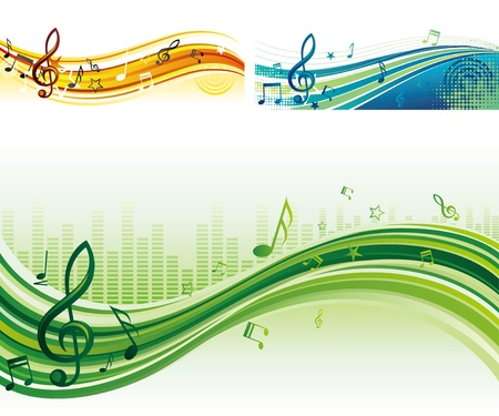 music theme banners Vector