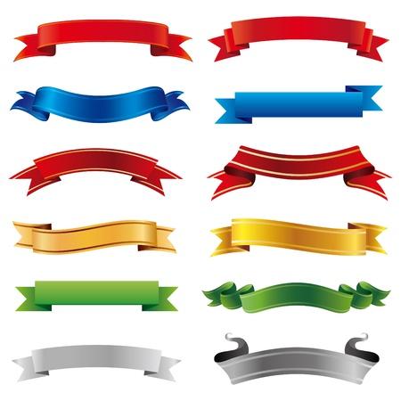 premio cinta: conjunto de banners de vectores Vectores