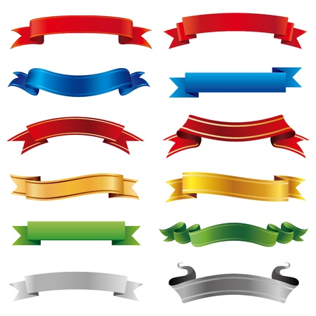 set of vector banners Çizim