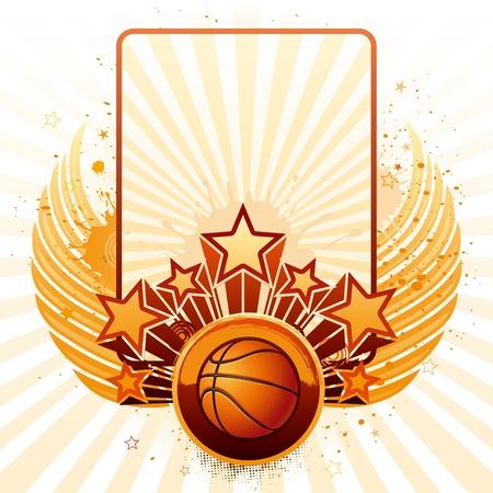 ballon basketball: arri�re-plan de vecteur de sport de basket-ball