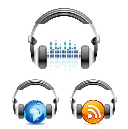 audifonos: ilustraci�n es un icono de auriculares