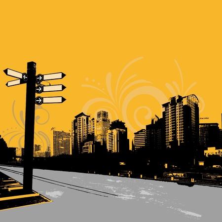 modern grunge urban graphic design Illustration