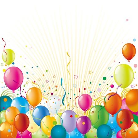 balloon with holiday celebration background Illustration