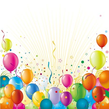 globos de cumpleaños: globo con fondo de celebración de vacaciones
