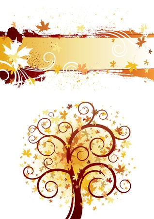decorative swirling autumn design background