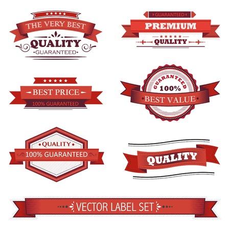 sale banner: Vintage labels set Illustration