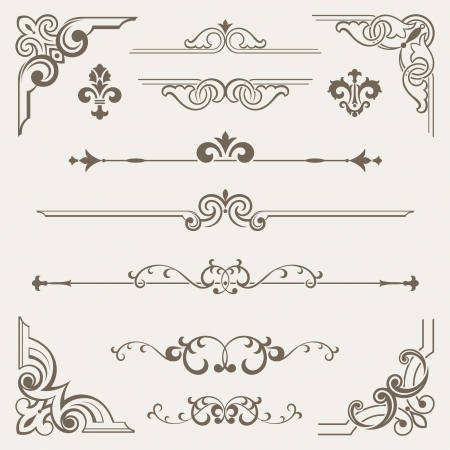 Vintage ornament design element  Stock Vector - 18259198