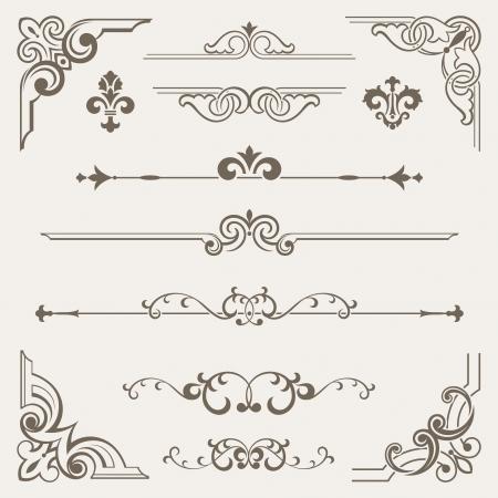 calligraphic design: Vintage ornament design element