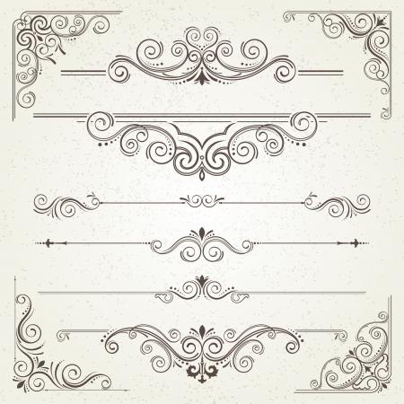 Vintage-Rahmen und Spiralelemente Standard-Bild - 18259221