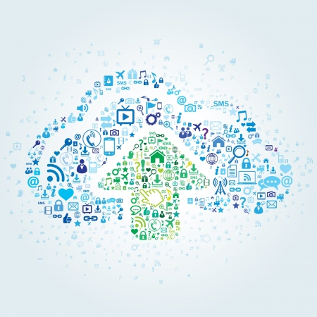 Technology concept of cloud computing