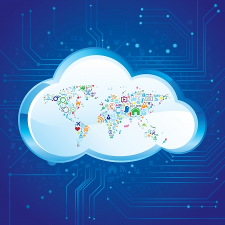 Cloud Computing Stock Vector - 18259217