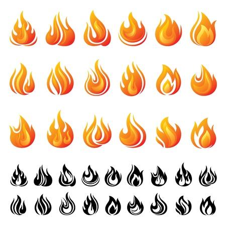 fire danger: Fire icons set