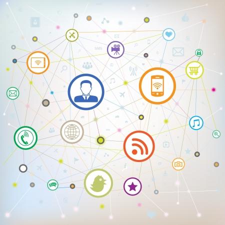 Social media concept,vector illustration.