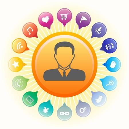 Social media concept,vector illustration. Stock Vector - 18779668