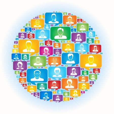 Social Network Stock Vector - 18779663