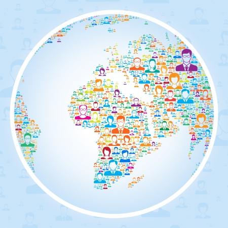 global business: Social media concept,vector illustration