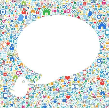 trabajo social: Las burbujas del discurso, en el concepto, comunicaci�n, Vectores
