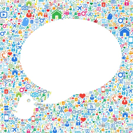sozialarbeit: Sprechblasen, Kommuni-Konzept auf