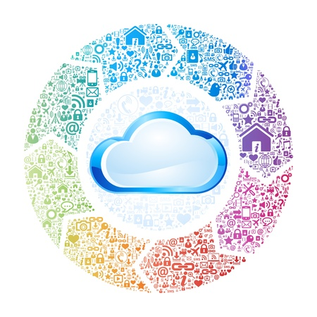 personal data assistant: Abstract concept of cloud computing