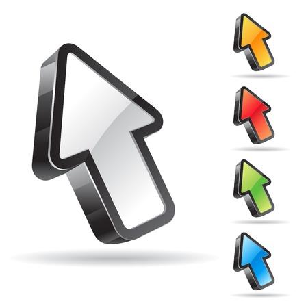 mouse cursor: Vector arrow set