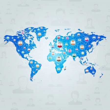 글로벌 통신 네트워크 개념