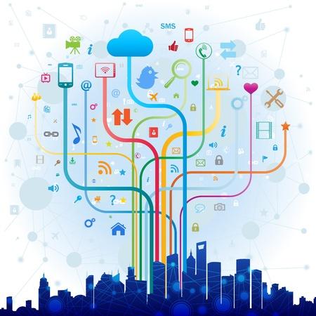 Social media concept Stock Vector - 22066501