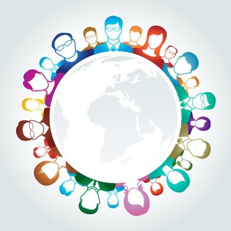 recruitment icon: Teamwork concept Illustration