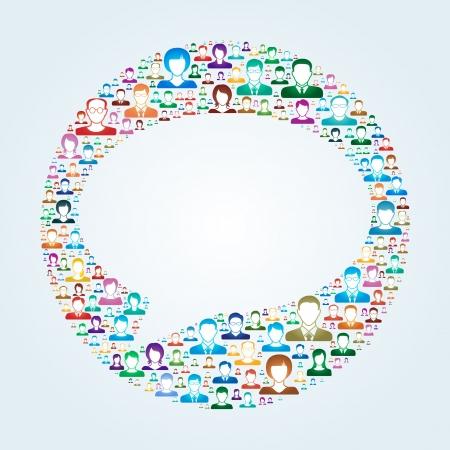 organization design: Social Network Illustration